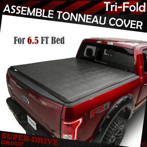 For 2007 2013 Chevy Silverado 6 5 Ft Assemble Tri fold Lock Soft Tonneau Cover
