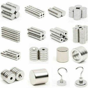 20 100xstrong Ring Disc Cylinder Hook Tiny Magnets Rare Earth Neodymium Lpwfxo3