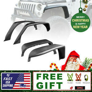 For 2007 2018 Jeep Wrangler Jk Textured Black Steel Tubular Fender Flare vest