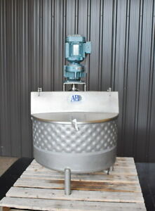 50 Gallon Jacketed Stainless Steel Mix Tank