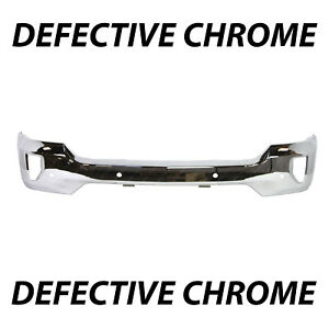 Defective Chrome Front Bumper Face For 2016 2018 Chevy Silverado W Fog