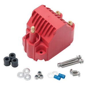 Edelbrock 22742 Ignition Coil Max Fire E Core Male Hei 40000v Red Universal Each