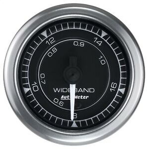 Auto Meter 8170 Air fuel Gauge Chrono Wideband 8 1 18 1 Afr Full Sweep 2 1 16 d