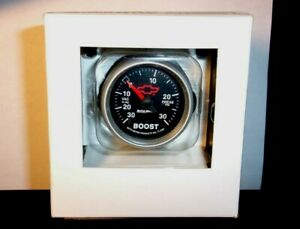 280 Autometer 3659 Gm Red Bowtie 2 1 16 Electric Boost Vac Gauge 30psi Chevy