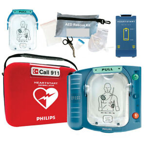 New Sealed Philips Heartstart Onsite Aed M5066a Hs1 2020 Pads 7 Year Warranty