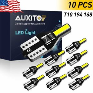 Auxito T10 Led License Plate Light Bulbs 6000k Bright White 168 2825 194 10x 12v