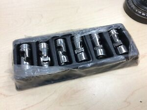 New Snap On 3 8 Drive 6pc 6 Point Metric Universal Socket Set 206fsuma