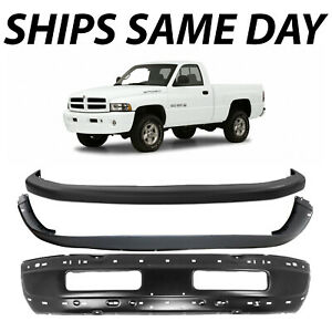 New Primered Front Bumper Face Bar Cover Combo Kit For 1994 2002 Dodge Ram 94 02