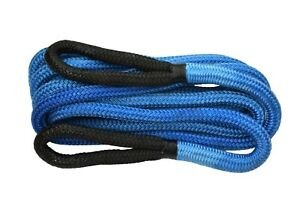 Blue 7 8 30ft Recovery Rope For Truck Suv Tow Rope kinetic Rope towing Ropes