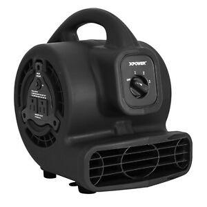 Xpower P 80a 600 Cfm low 1 2 Amp Mini Air Mover Carpet Dryer Floor Blower black