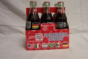 COCA COLA - 1994 WORLD CUP SET OF 6 BOTTLES - GERMANY - UNOPENED - SOCCER LOT