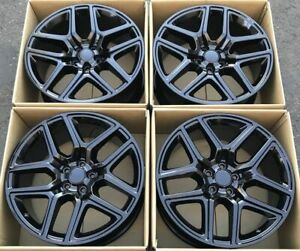 20 Dodge Ram Oem 1500 Factory Sport Wheels Rims Satin Black 2016 2017