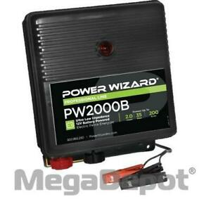 Power Wizard Pw2000b Battery Electric Fence Charger 2 Joule Output