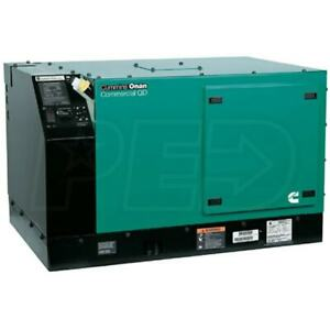 Cummins Onan Qd 7500 7500 Watt Quiet Diesel Commercial Mobile Generator 120v