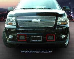Fits 2007 2014 Chevy Tahoe Suburban Avalanche Billet Grille Front Bumper Grill