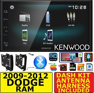 2009 2012 Dodge Ram Truck Kenwood Bluetooth Usb Screen Mirror Radio Stereo Pkg
