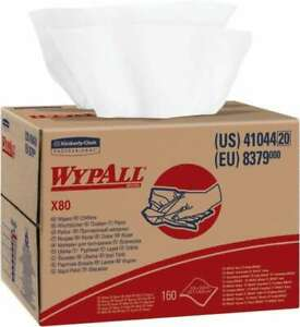 Wypall X80 Dry Shop Towel industrial Wipes Brag Box double Top Box 16 3 4 X