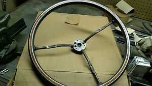 Nos Gm Blue Wood Grain Stering Wheel Buick Cadillac Olds Pontiac