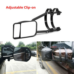 Universal Car Truck Adjustable Clip on Trailer Towing Side Mirror Extender Kit