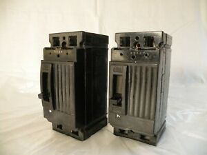 2 Pre owned Used General Electric tef124030 30a 480v Circuit Breakers