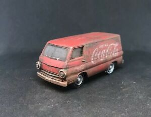 1964 Dodge A100 Van Rusty Weathered Barn Find 1/64 Diecast Custom Coca Cola M2
