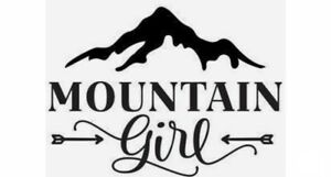 Mountain Girl White Vinyl Decal Sticker
