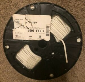 Electrical Wire 16 Awg White 3x 500 Spools 1500 Total
