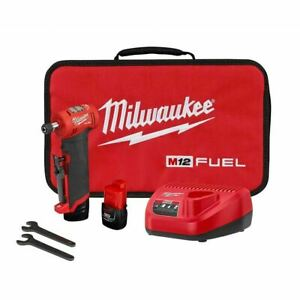 Milwaukee 2485 22 Right Angle Die Grinder M12 Fuel Kit 2 Batteries And Charger