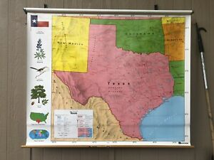 Nystrom Texas Pulldown Classroom Map 1ns42