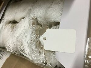 2000 ct White Blank String Strung Price Tags 5 Merchandise Tags 1 2 X 1 8