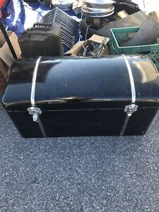 Vintage Antique Car Auto Trunk Metal Material Bottom Plywood