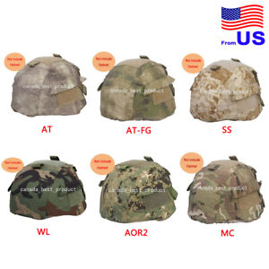 EMERSON Airsoft Tactical MICH 2002 Helmet Nylon Cover With Back Pouch 1
