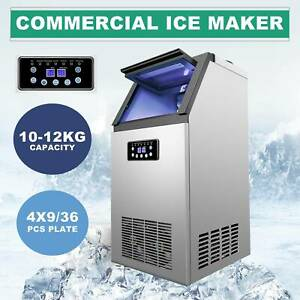 Portable Commercial Ice Maker 4x9 36 Ice Cubes 300w 100lb 24h Automatic Built in