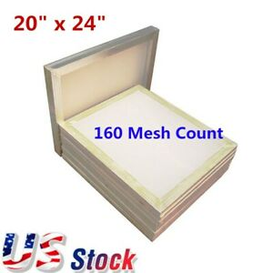 6pcs 20 X 24 Silk Screen Printing Screens Aluminum Frame With 160 Mesh Usa