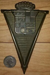 1932 1945 Cadillac Or Lasalle Grill Badge Logo Emblem Ornament Insert