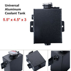 Universal Aluminum Coolant Overflow Expansion Water Tank Bottle 1 2l With Cap