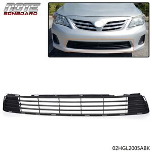 For 2011 2013 Toyota Corolla Replacement Front Bumper Lower Grille Grill Black