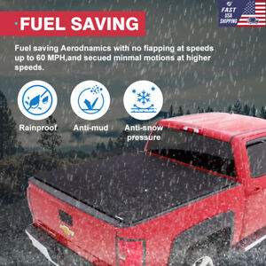 For 1999 2006 Chevy Silverado 6 5 Ft Assemble Tri fold Lock Soft Tonneau Cover