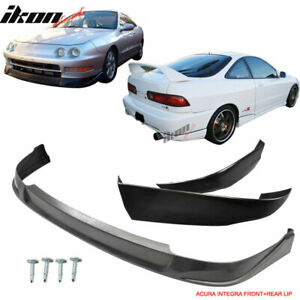Fits 94 97 Acura Integra 2dr Coupe Concept Style Front Rear Bumper Lip Pu