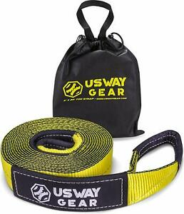 Usway Gear 3 X 30 Recovery Tow Strap 30 000 Lbs 15 Us Ton Rated Capacity H