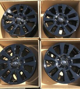20 Toyota Tundra Sequoia Factory Oem Wheels Rims Gloss Black Original 69533