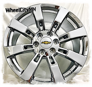 20 Inch Chrome 2007 2013 Chevy Avalanche Silverado Ck375 Oe Replica Wheels 6x5 5
