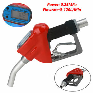 1 Inch Trubine Mechanical Gas Diesel Fuel Nozzle With Accuracy Lcd Reading Meter