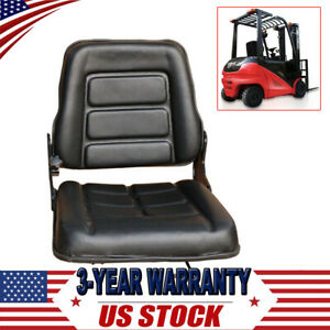 New Universal Forklift Seat Black Leather Adjustable Seat For Bobcat Tractor