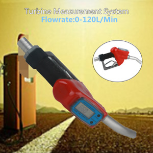 0 120l min Trubine Mechanical Gas Diesel Digital Fuel Nozzle W lcd Reading Meter