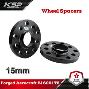 Pair Of 15mm 5x100 5x112 Hub Centric Wheel Spacers 57 1 Hub Bore For Audi Vw