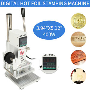 110v Digital Hot Foil Stamping Machine Leather Pvc Pu Card Embossing Bronzing