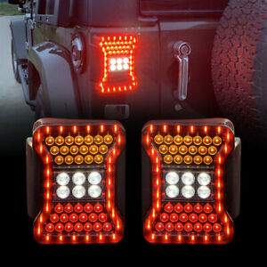 Smoked Taillights For 07 18 Jeep Wrangler Jk Jku Rubicon Sahara Sport Pair