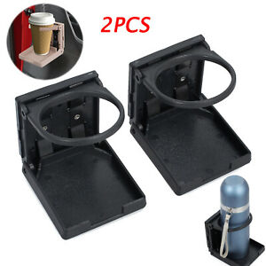 2pcs Cup Drink Beverage Holder Mount Holder W Tape Strips Fits Car Truck Van