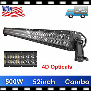 52inch 500w Cree Led Light Bar 4d Offroad Fog Driving Combo Truck Lamp For Suv